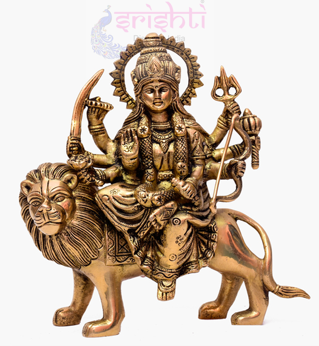 SSBU-Brass Durga-8.5 Inches USA & CANADA