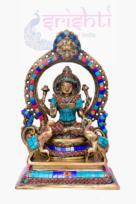 SSBU-Brass Lakshmi Statue-12 Inches USA & CANADA