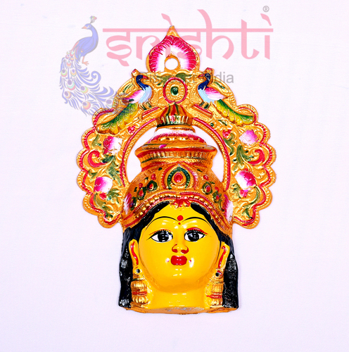 SMMC-Varalakshmi Amman Face with Peacock Crown-12 Inches