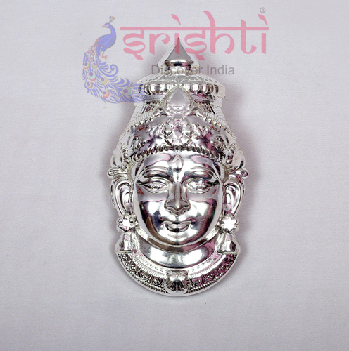 SMMC-Varalakshmi Amman Face Metal Plated-7 Inches-M01