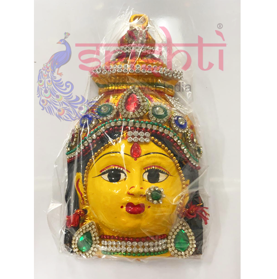 SMMC-Varalakshmi Amman Face with Stone Work-7 Inches