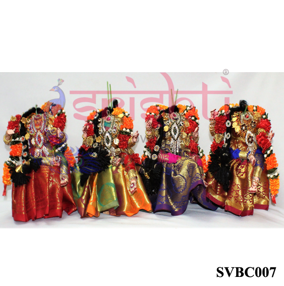 SVVB-Decorated Varalakshmi Idol Amman Dress Full Set