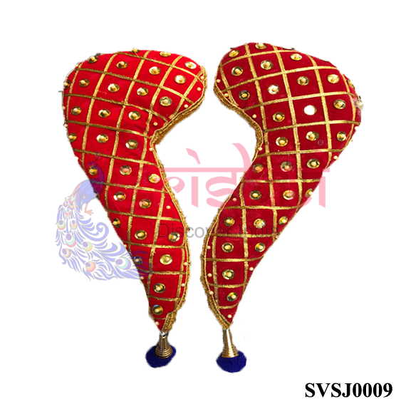SVJC-Varalakshmi Amman Vagamalai Pair Red-12 Inches