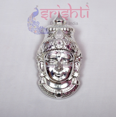 SMMC-Varalakshmi Amman Face Metal Plated-7 Inches-M01 USA & CANADA