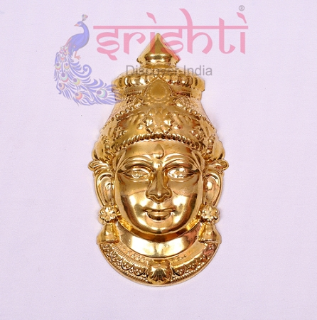 SMMC-Varalakshmi Amman Face Metal Gold Plated-7 Inches-M02 USA & CANADA