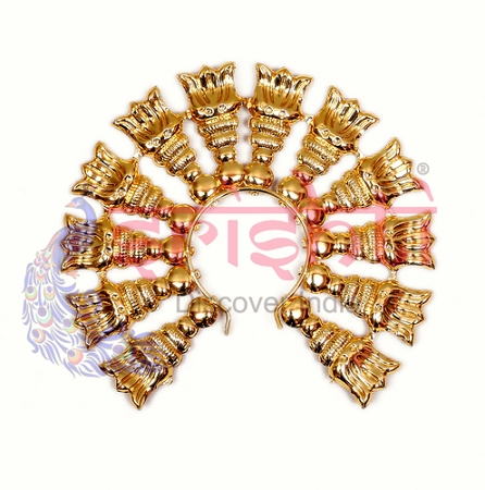 SMMC-Varalakshmi Decorative Leaf Crown Metal Gold Plated-M04 USA & CANADA