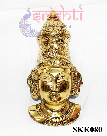 SKPU-Brass Goddess Amman Face-7 Inches USA & CANADA
