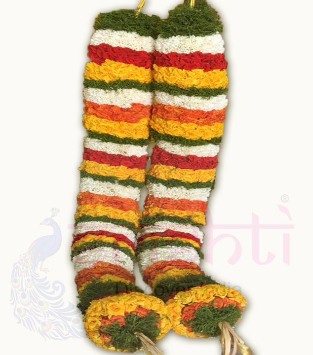 SFTG-Fresh Assorted Flowers Temple Garland-T06