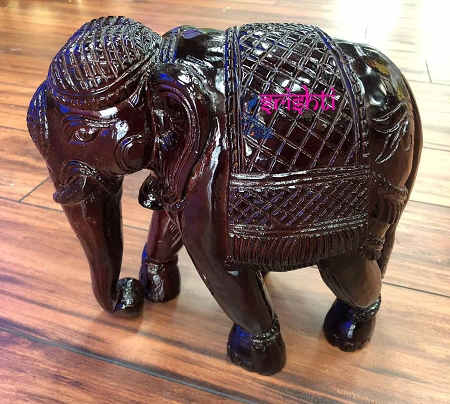 SSWU-Teak Wood Elephant with Rose Wood Finish