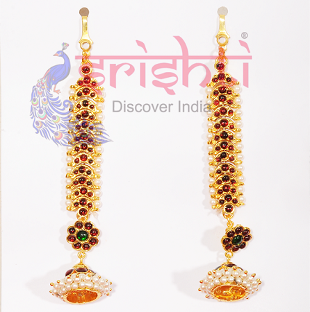 SRBA-Dance Ear Accessories Set with Jhumka-S03-A USA & CANADA
