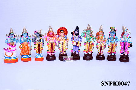 SNPD-Dasavatharam Set-11 Inches USA & CANADA