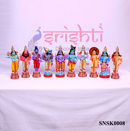 SNKD-Dasavatharam Set-10.5 Inches USA & CANADA