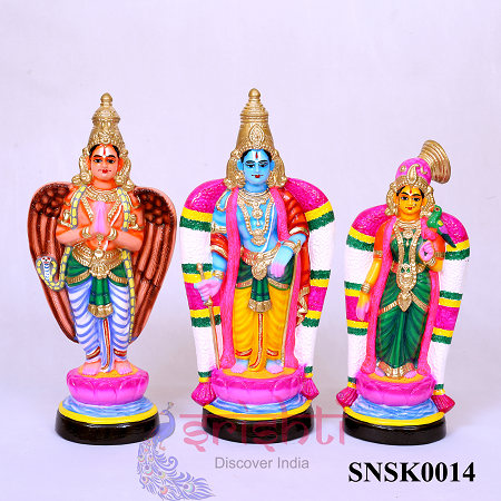 SNKD-Andal Rangamannar and Garuda  Set-16.5 Inches USA & CANADA