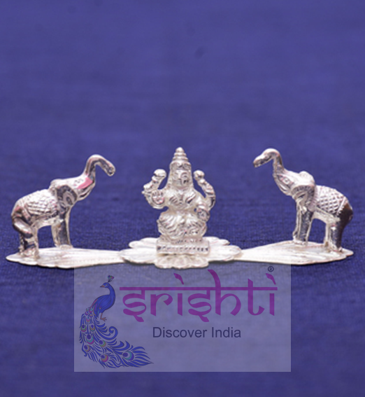 SSSD-Pure Silver Gajalakshmi with Elephant Idol
