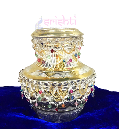 SSSD-Pure Silver Kalash With Stone Work USA & CANADA