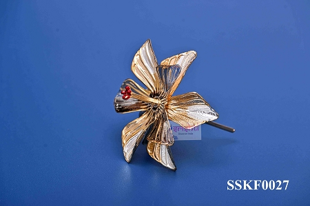 SSSD-Pure Silver Archana Flower Gold Plated-10 Gms USA & CANADA