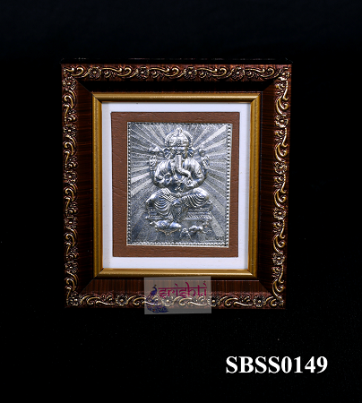 SSSD-Pure Silver Ganesha Photo Frame USA & CANADA