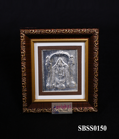 SSSD-Pure Silver Lord Balaji Photo Frame-4 Inches USA & CANADA