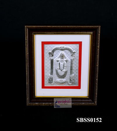 SSSD-Pure Silver Lord Venkateshwara Photo Frame-5.6 Inches USA & CANADA