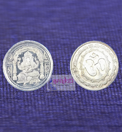 SSSD-Pure Silver Ganesha Coin-21 Gms (Pack of 21) USA & CANADA