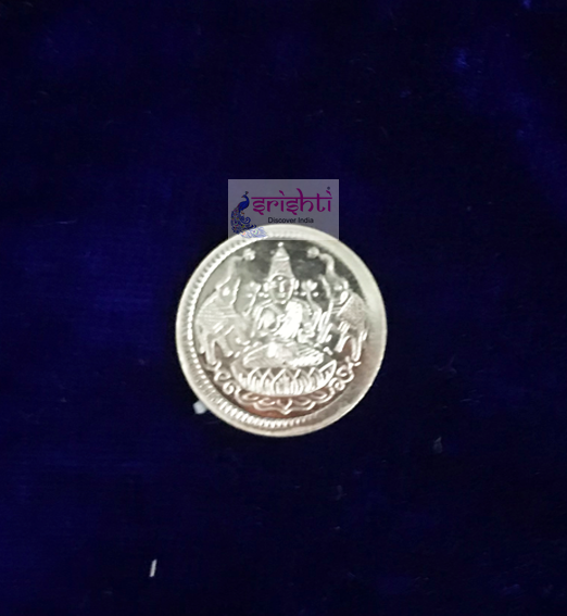 SSSD-Pure Silver Lakshmi Coin Small-1.2 Gms