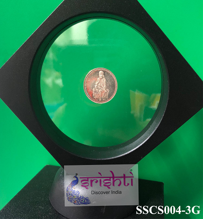 SSSD-Pure Silver Sai Baba Coin-3 Gms