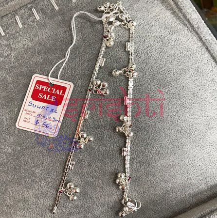 SSSD-Pure Silver Anklets-M10