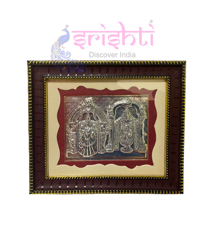 SSSD-Silver Lord Balaji Thayar Photo Frame-5.5 Inches USA & CANADA