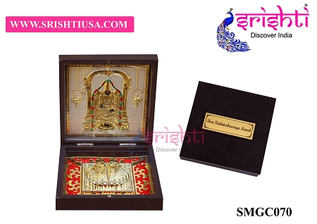 SAPF-Sri Venkateshawara Namah with Charan Paduka Photo Frame Box USA & CANADA