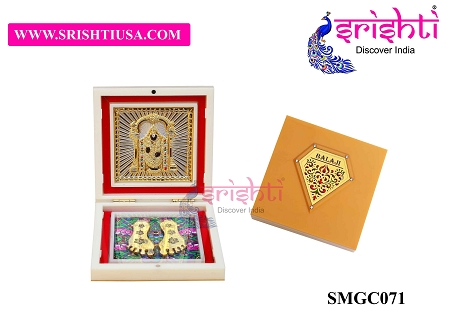 SAPF-Sri Balaji with Charan Paduka Photo Frame Box USA & CANADA