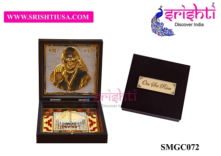 SAPF-Om Sai Ram with Charan Paduka Photo Frame Box USA & CANADA