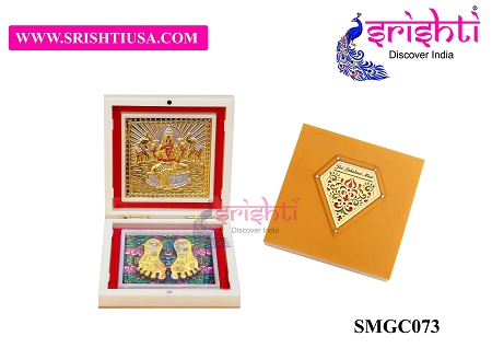 SAPF-Jai Lakshmi Maa with Charan Paduka Photo Frame Box USA & CANADA