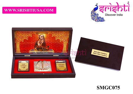 SAPF-Kanchi Maha Periyavar with Charan Paduka Photo Frame Box USA & CANADA