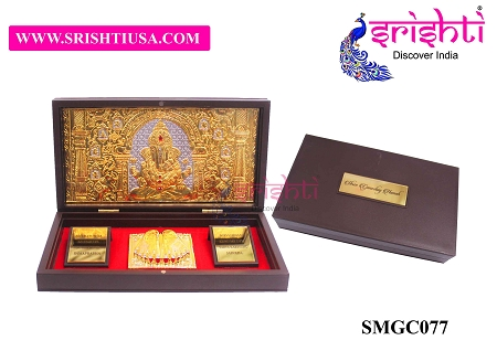 SAPF-Sri Ganesha Namah with Charan Paduka Photo Frame Box USA & CANADA