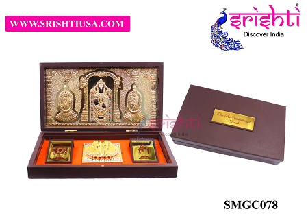 SAPF-Sri Venkateshwara Namah with Charan Paduka Photo Frame Box USA & CANADA