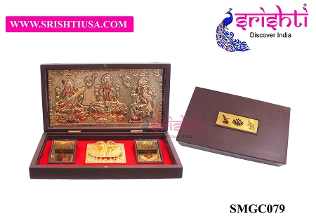 SAPF-Lakshmi Saraswathy Ganesha with Charan Paduka Photo Frame Box USA & CANADA