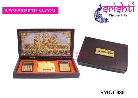 SAPF-Jai Shree Ram with Charan Paduka Photo Frame Box USA & CANADA