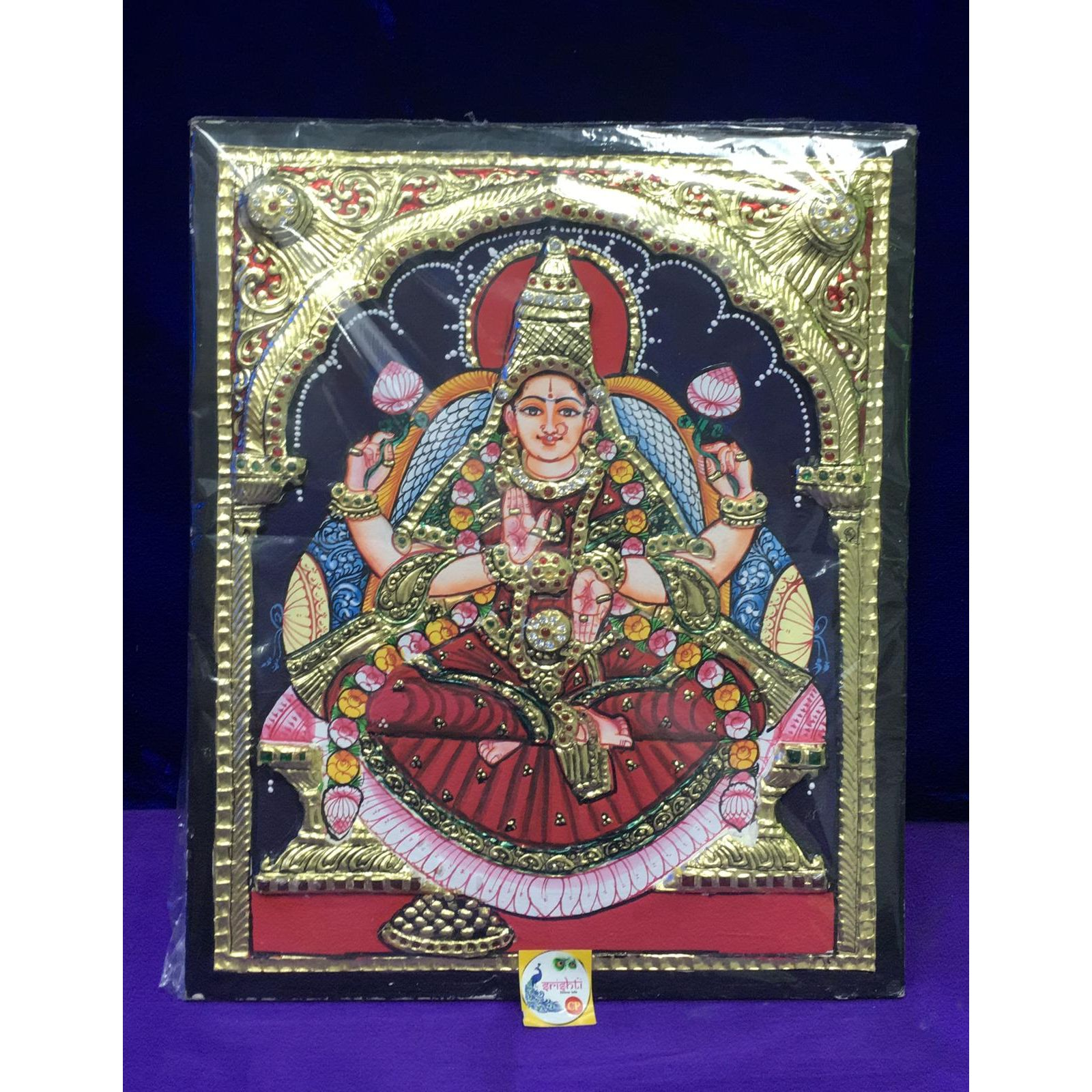 Tanjore Painting Photo frame- Lakshmi