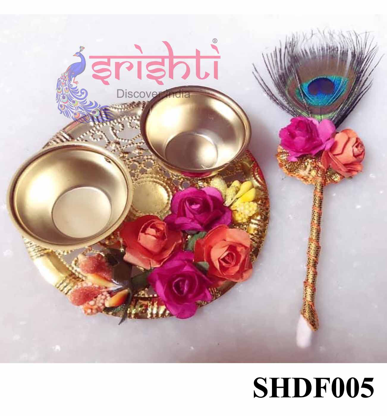SHDP-Kumkum Container-Two Cup Set