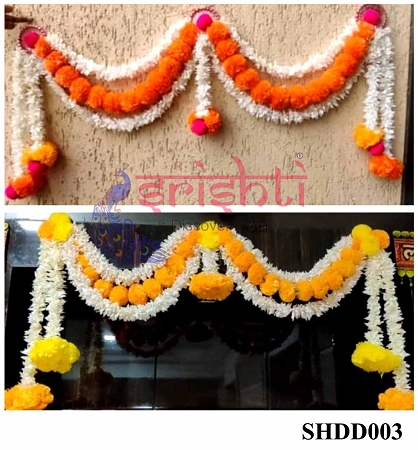 SHDP-Artificial Assorted Marigold Entry Door Hanging USA & CANADA