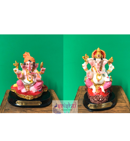 SKRG-Assorted Marble Ganesha-Pack of 10