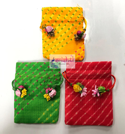 SJBK-Assorted Gift Wrap Potli Bag-M03 USA & CANADA