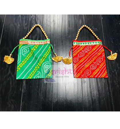SJBK-Assorted Fancy Gift Bags with Beaded Handle USA & CANADA