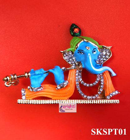 SMRG-Flute Ganesha with Stone Work USA & CANADA