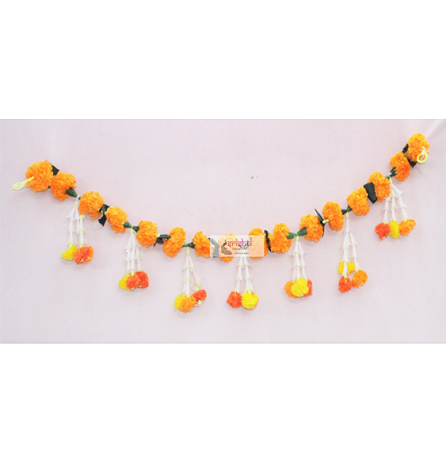 SCSA-Artificial Marigold Door Garland-Orange USA & CANADA