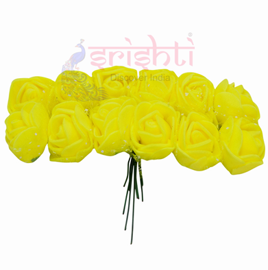 SCSA-Artificial Rose String-Yellow USA & CANADA