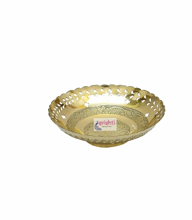 SKBU-Brass Fruit Bowl-BB2