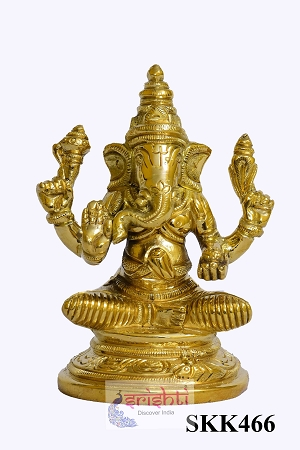 SKBU-Brass Ganesha-4 Inches USA & CANADA