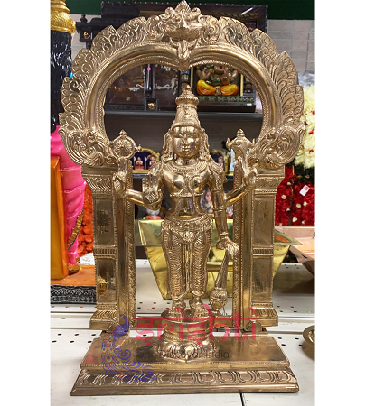 SKPU-Bronze Satyanarayana with Arch-12.5 Inches
