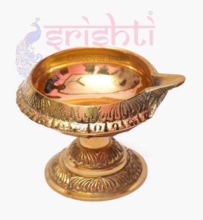 SKBU-Brass Kubera Diya with Stand-M03 USA & CANADA